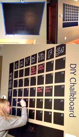 Diy Yearly Wall Calendar : Diy chalkboard wall calendar weve tried it