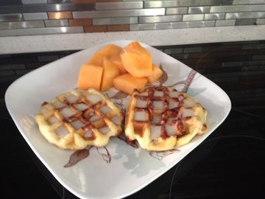 Cinnamon Rolls waffle maker