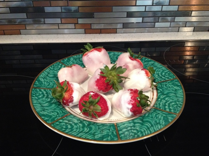 Frozen Yogurt Strawberries