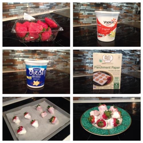 Healthy Frozen Yogurt Strawberries