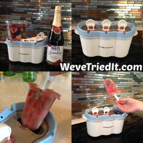 Frozen fresh fruit popsicles