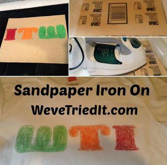 DIY iron on