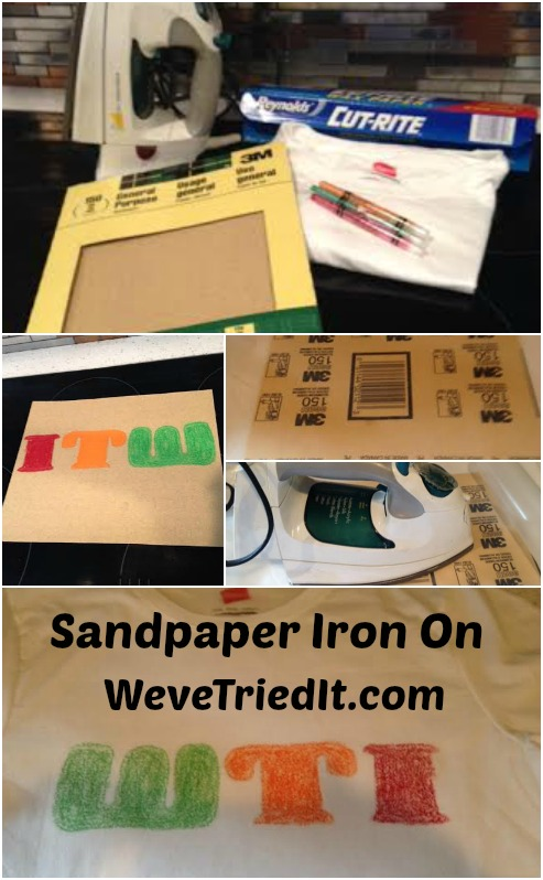 Sandpaper T Shirt Iron On
