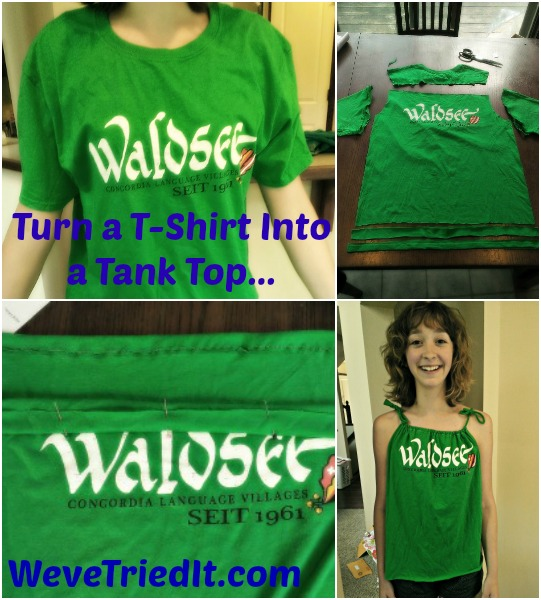 Turn a tshirt into a tank top