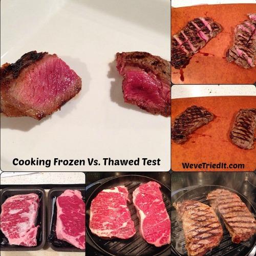 Frozen vs Thawed Steaks