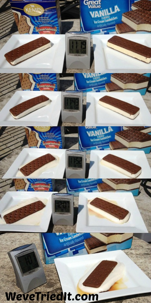 Walmart Ice Cream Sandwich Test
