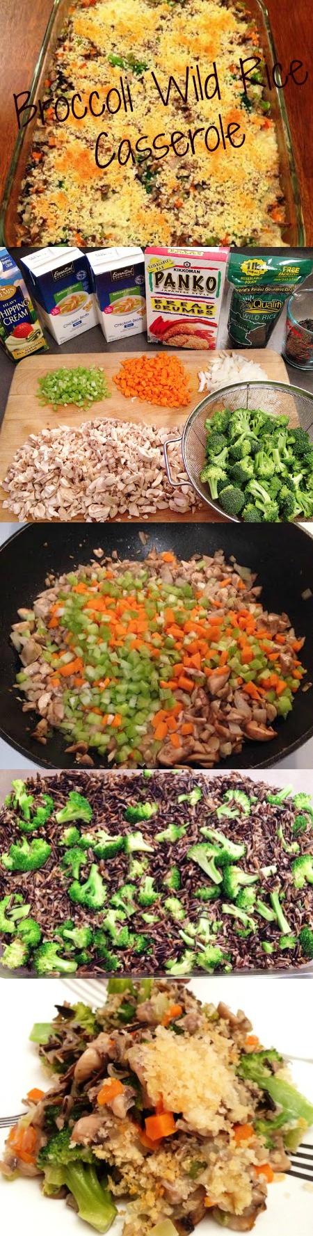 Broccoli Wild Rice Casserole Phatphood