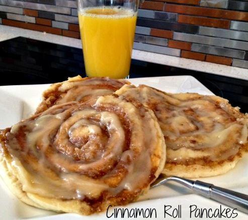 Cinnamon Roll Pancakes WTI