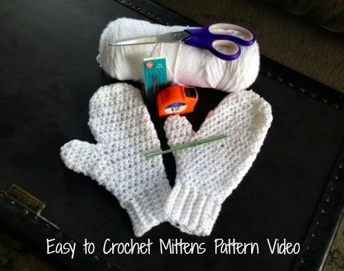 Easy Crochet Mittens Pattern