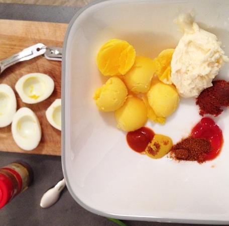 Thai Deviled Eggs Mixture