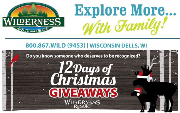 Wilderness Resort 12 Days of Christmas Giveaway