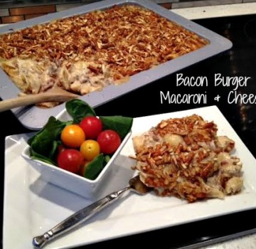 Bacon Burger Macaroni and Cheese