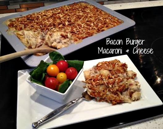Bacon Burger Macaroni and Cheese