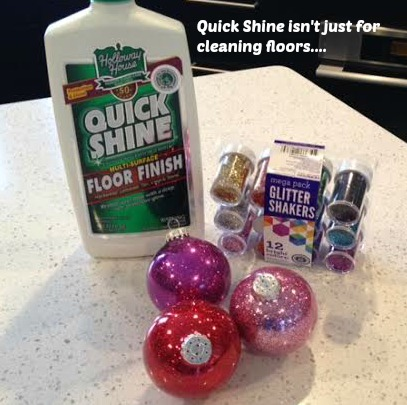 Quick Shine Glitter Ornaments