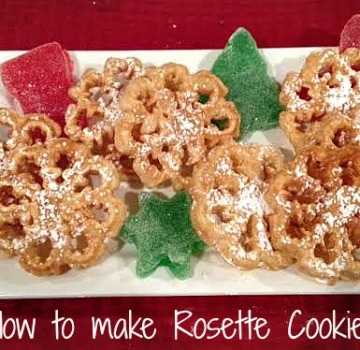 Rosette Christmas Cookies