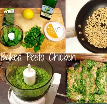 Baked Pesto Chicken 360