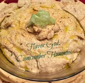 Cucumber Hummus 360