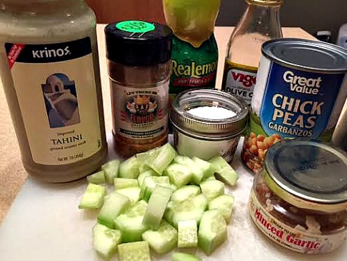 Cucumber Hummus Ingredients