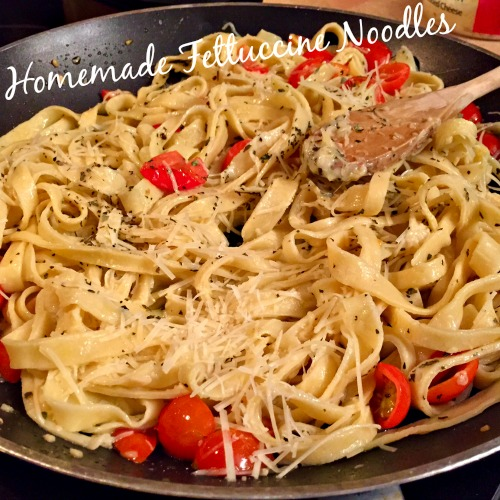 Homemade Fettuccine Noodles