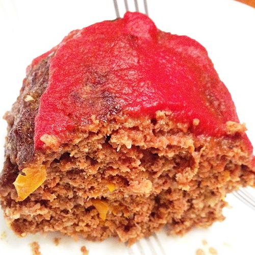 Meatloaf inside