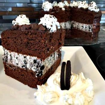 Oreo Cheesecake Chocolate Cake Recipe 350