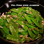 Pea Pods with Almonds Recipe