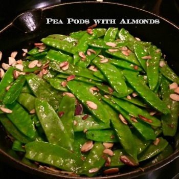 Peapods with Almonds 350