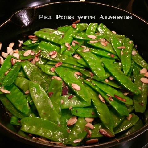 Peapods with Almonds
