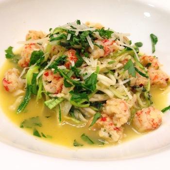 langoustines and zucchini pasta 350