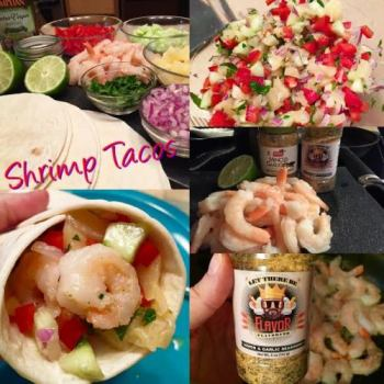 Shrimp Tacos with Pineapple Salsa 350