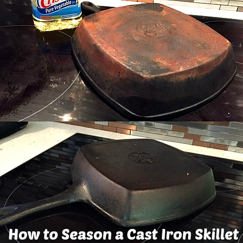 how to get rid of rust on cast iron skillet