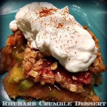 Rhubarb Crumble Dessert 350