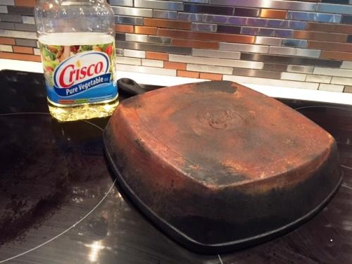 rusty cast iron