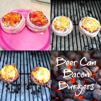 Bacon Beer Can Burgers