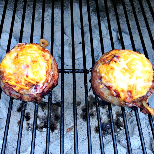 Beer Can Bacon Burgers