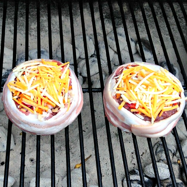 Grilling Beer Can Burgers