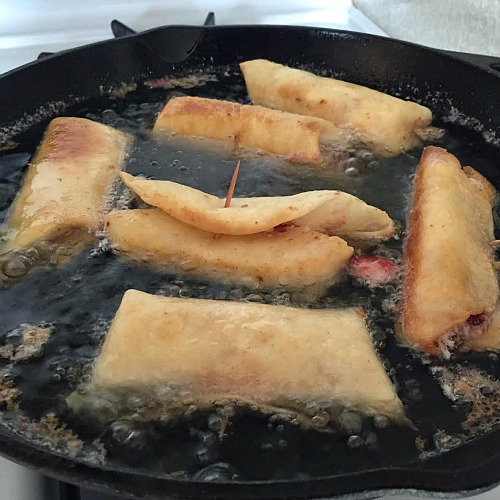 Chimichangas Frying