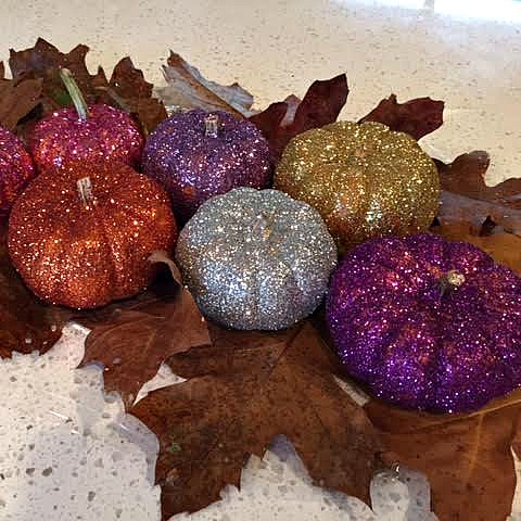 Glitter pumpkin project