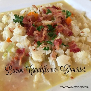 Bacon Cauliflower Chowder