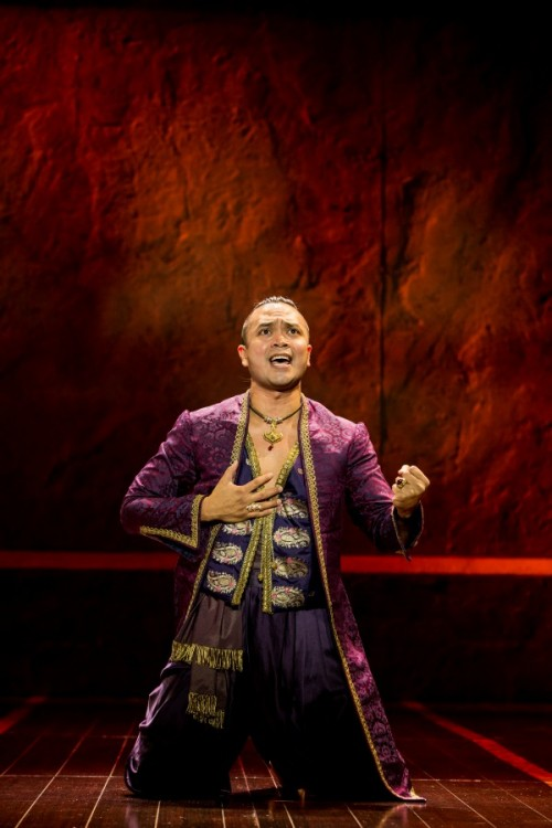 Jose Llana as The King in Rodgers & Hammerstein's The King and I. Photo by Matthew Murphy