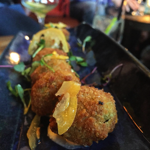Fried Chorizo Stuffed Olives