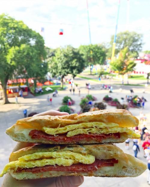 Fall Guy Breakfast Panini MN State Fair