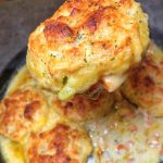Seafood Pot Pie with Cheddar Bay Biscuits