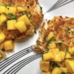 Crab Cakes with Spicy Mango Salad